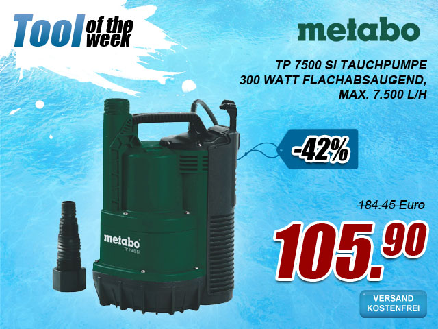 Metabo TP 7500 SI Tauchpumpe bei myToolStore