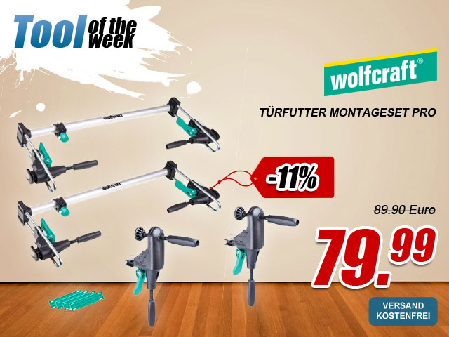 Wolfcraft Türfutter Montageset PRO als Tool of th week bei myToolStore