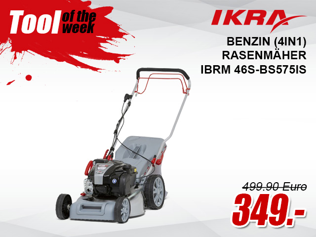 Ikra Benzin (4in1) Rasenmäher IBRM 46S-BS575IS - 77007660