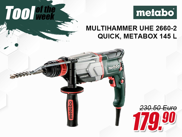 Metabo Multihammer UHE 2660-2 Quick, metaBOX 145 L, mit Metabo-Quick-Wechselfutter