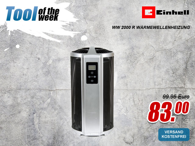 "myToolStore ""Tool of the week"" Einhell WW 2000 R Wärmewellenheizung"