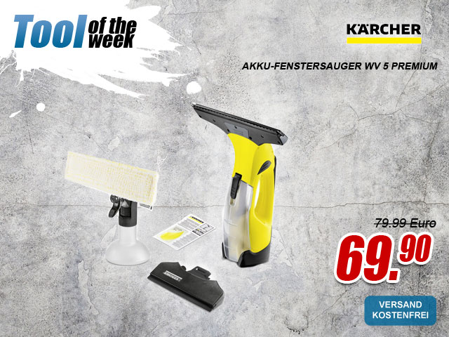 "myToolStore ""Tool of the week"" Kärcher Akku-Fenstersauger wv 5 premium"