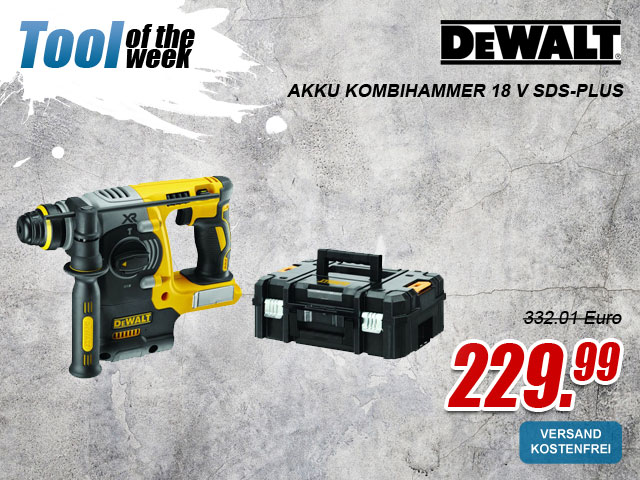 "myToolStore ""Tool of the week"" DeWALT DCH273NT-XJ Akku Kombihammer 18 V SDS-Plus"