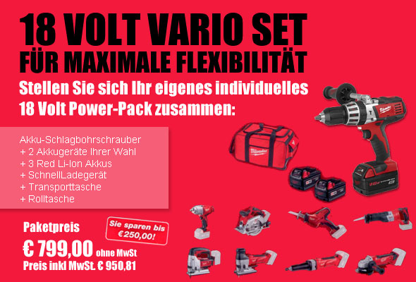 milwaukee akkuschrauber 18 volt vario set f r maximale flexibilit t mytoolstore werkzeug blog. Black Bedroom Furniture Sets. Home Design Ideas